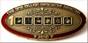 1 Million Geocache Geocoin Antique Gold