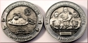 40 Years Man On The Moon -EARTH- Antique Silver