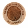 100 ks Czech Geocacher Micro Wood Geocoin (MWG)