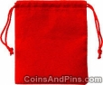 Velvet Coin Pouch, Red